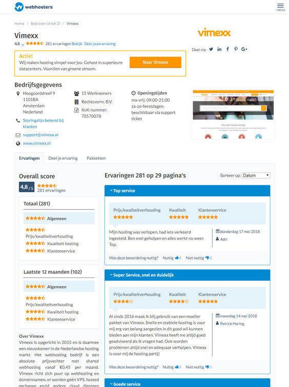 Webhosters.nl aanbieder tablet