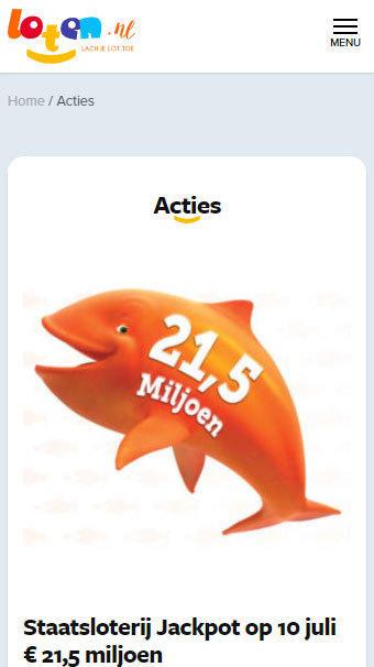 Loten.nl acties mobile