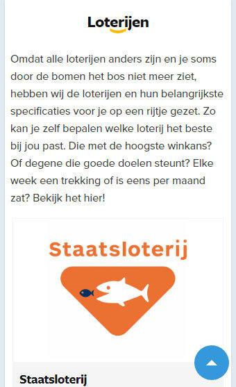 Loten.nl loterijen mobile