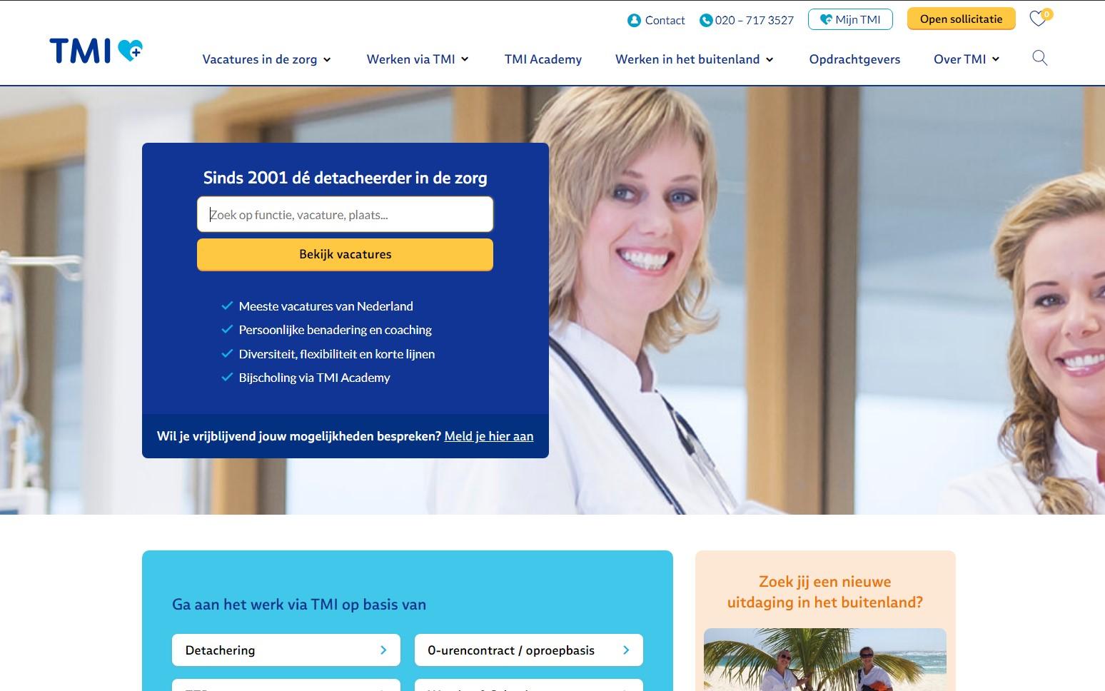 Homepage TMI.nl