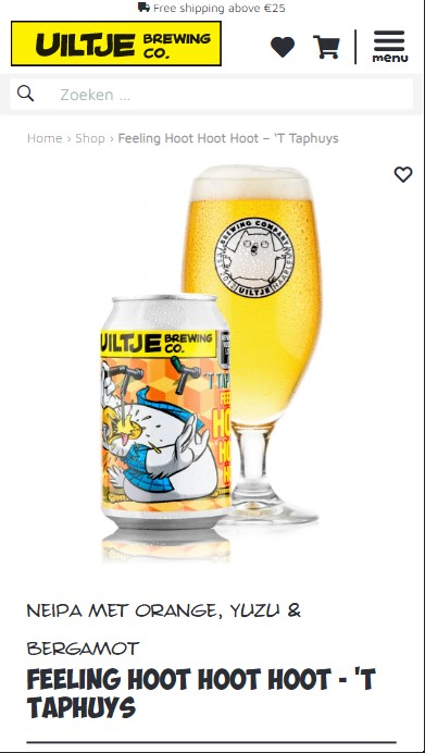 Uiltje Brewing Co. Productpage